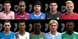 Faces: Alain Traore, Alli, Basta, Bech, Carrizo, Coric, Delph, Ulisses Garcia, Uth, Vazquez, Pes 2013
