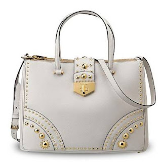 Prada Leather Saffiano Metal Studs Handbag