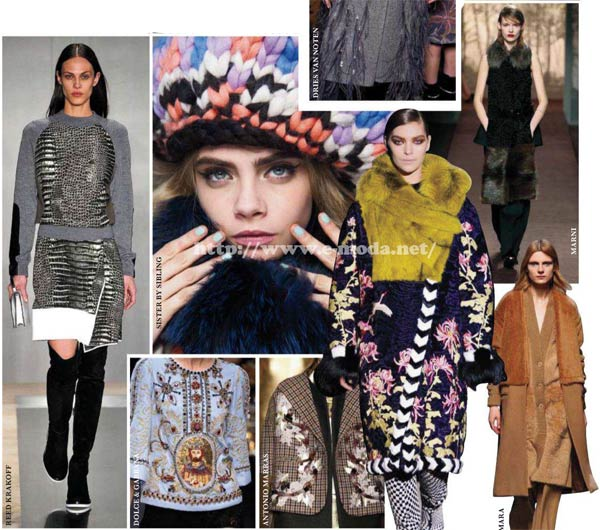 Tendencias de moda europea invierno 2013 / 2014