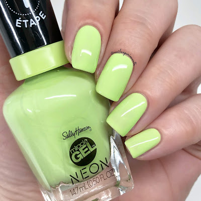 sally hansen miracle gel electri-lime summer 2019 neon collection limited edition swatches