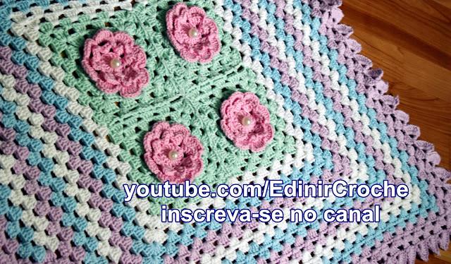 Flores em Croche com Edinir Curso de Croche