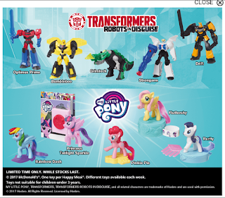 MLP 2017 Happy Meal Toys for New Zealand