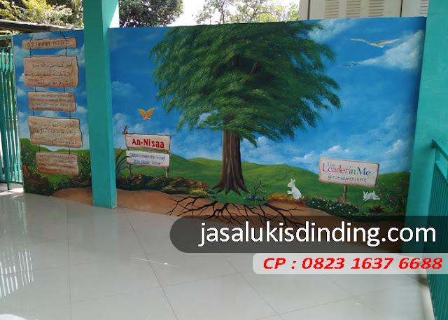 contoh lukisan dinding tk