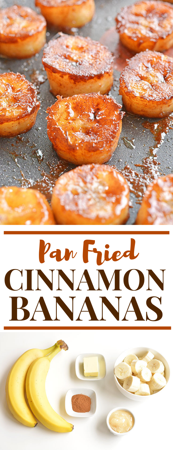 Pan Fried Cinnamon Bananas #paleo #vegetariandiet