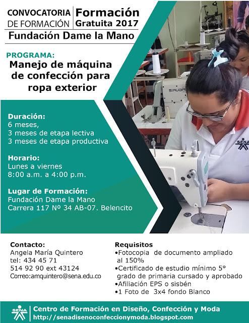 8755e33a91 Formación Gratuita y de Calidad en manejo de Máquinas. de Confección  Industrial para Ropa Exterior