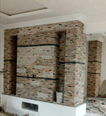 ledge stone cladding in nieria