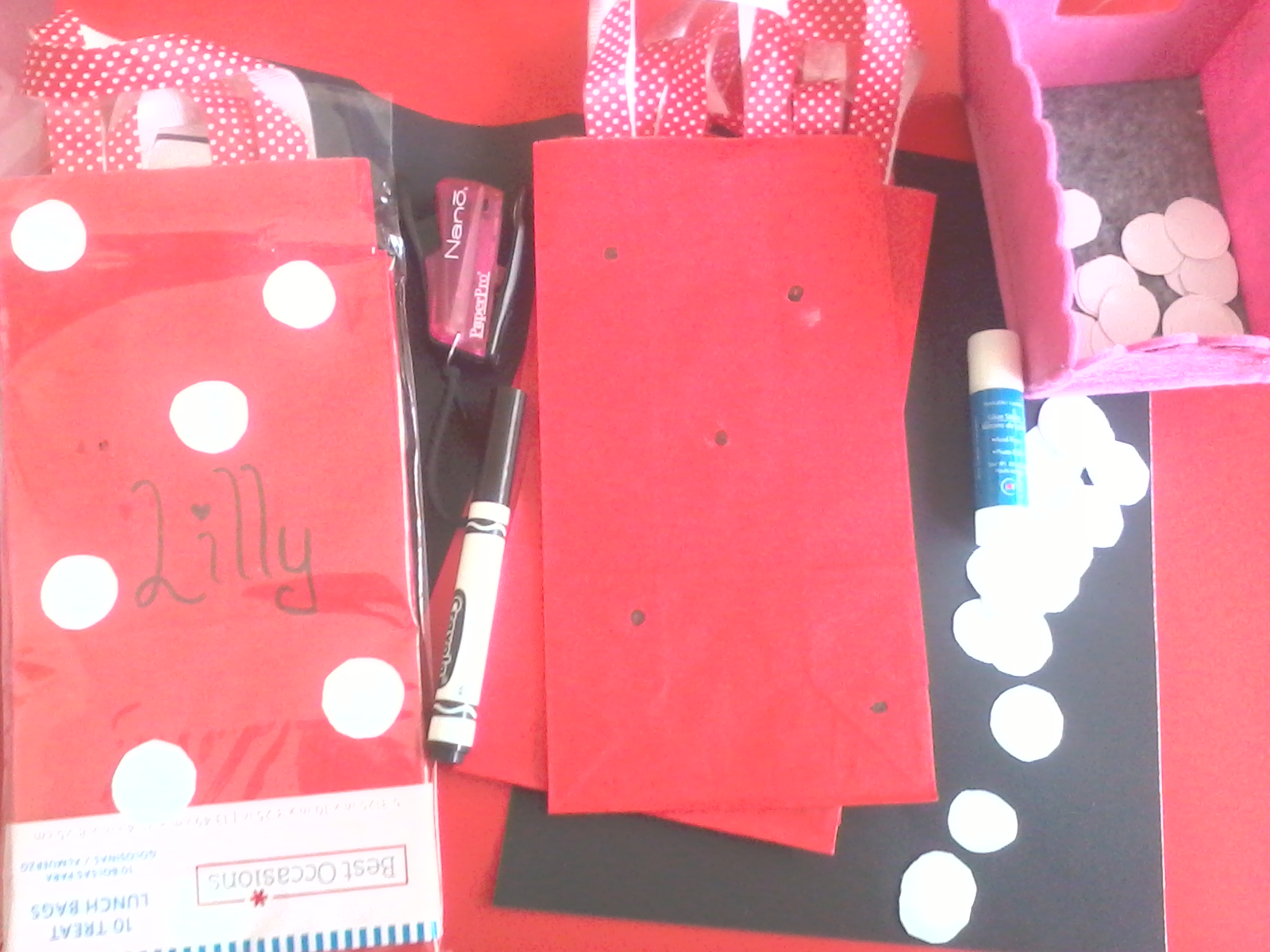 Crafttini Goody Bags To Match Minnie Mouse S Dress