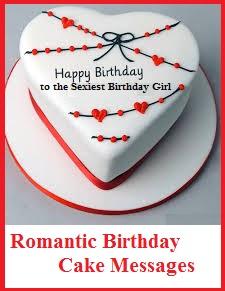 Romantic Birthday Cake Wordings