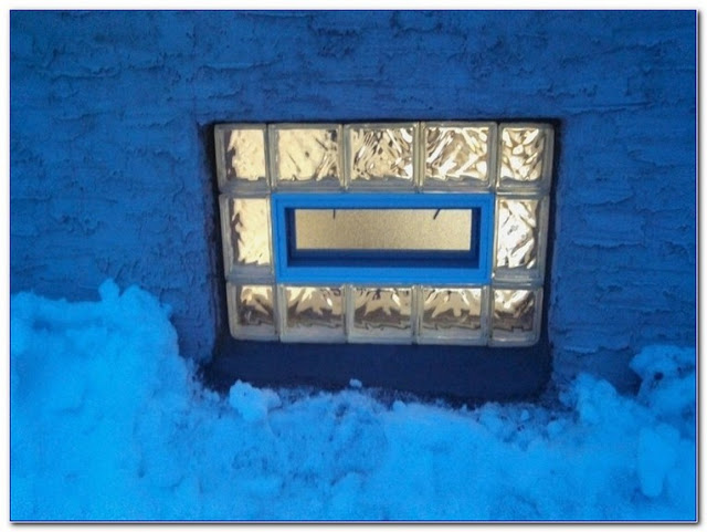 glass block window dryer vent replacement