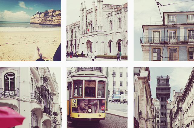 This collage is showing some impressions from Portugal.