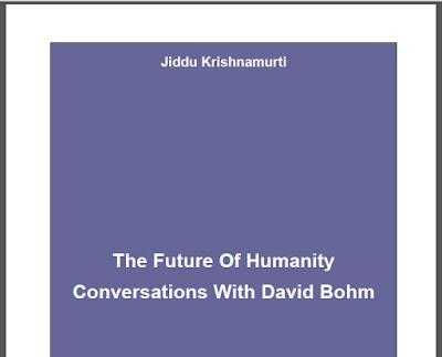 Future of Humanity  by J.Krishnamurti Download eBook in PDF