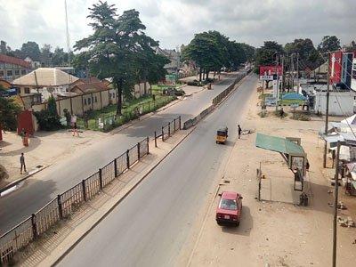 Aba, Biafra sit at home
