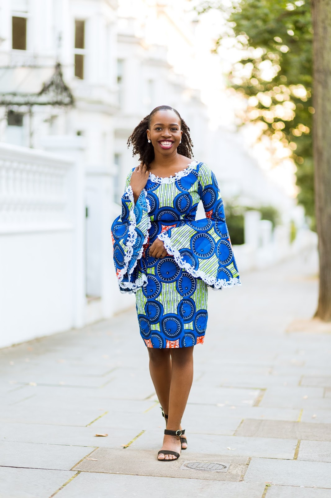 African Print Dress on Black British Fashion Blogger