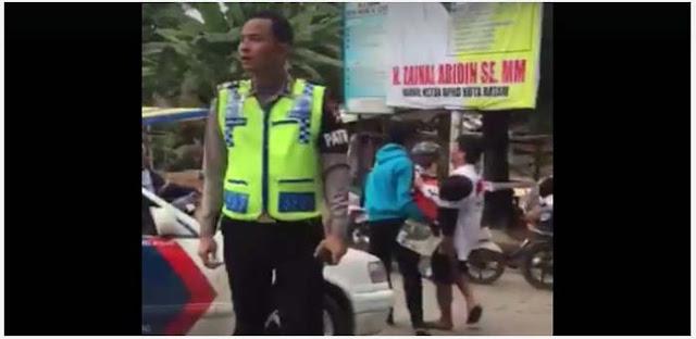 Viral, Vidio Oknum Polisi Enggan Menolong Korban Kecelekaan Parah Dibatam, Dikecam Netizen