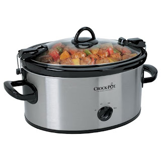 The crockpot that I use to make the dish.