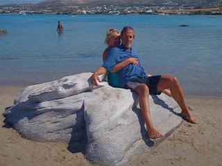 Pat Wayne Dunlap Kolimbithres Beach Paros Greece