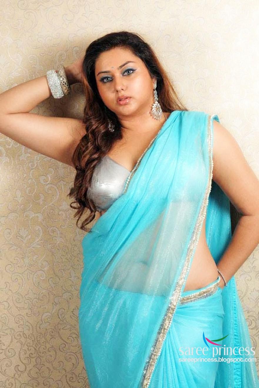 Spicy Saree: Namitha In Saxy Transparent Saree