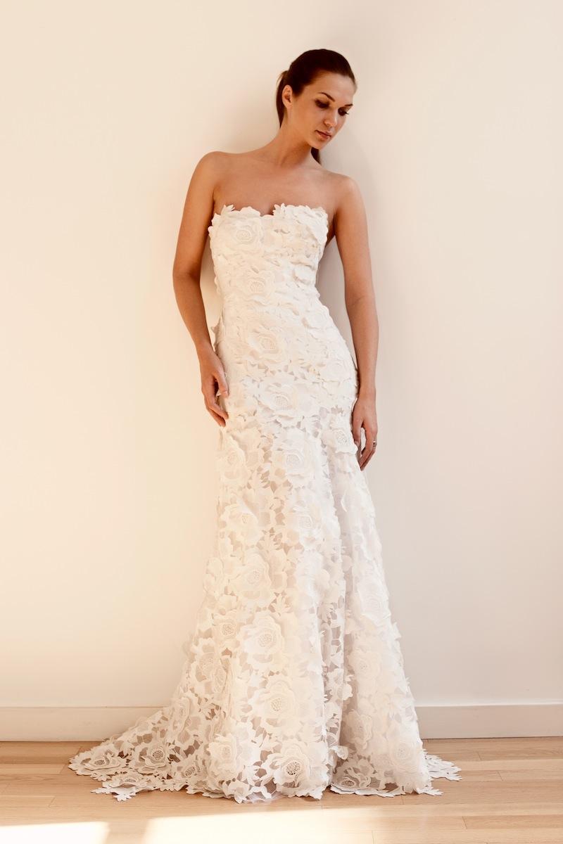 Der zeitlose Klassiker  eine Spitze Brautkleid  Beste