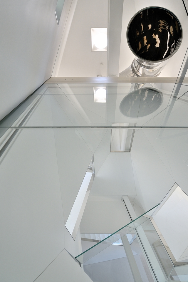 Glass floor on the attic floor