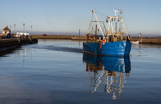 Photo of fishing boat Solway Prospector on the move in Maryport Harbour