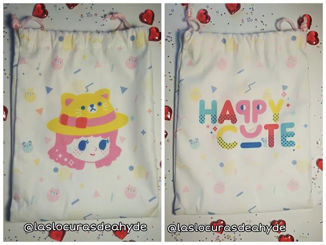 pequeña bolsa de tela happy cute