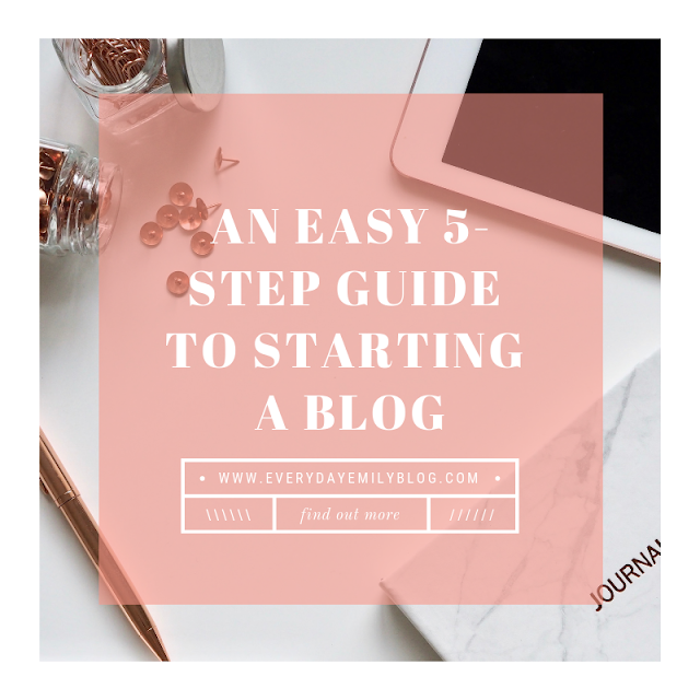 how to start a blog in no time five step guide to starting a blog everyday emily blog fashion beauty lifestyle
