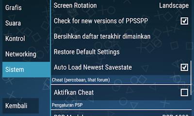 Settingan PPSSPP Agar Tidak Lag