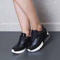 Pantofi dama Gretel negri sport