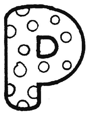 transmissionpress  bubble letter p coloring pages