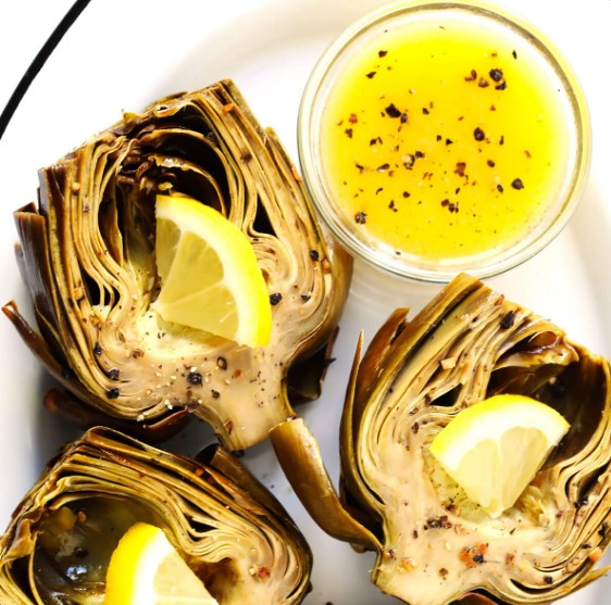 THE MOST AMAZING ROASTED ARTICHOKES #Vegan #Veggies