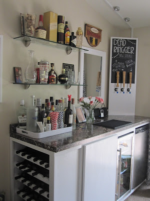 Our DIY Bar and housewarming!