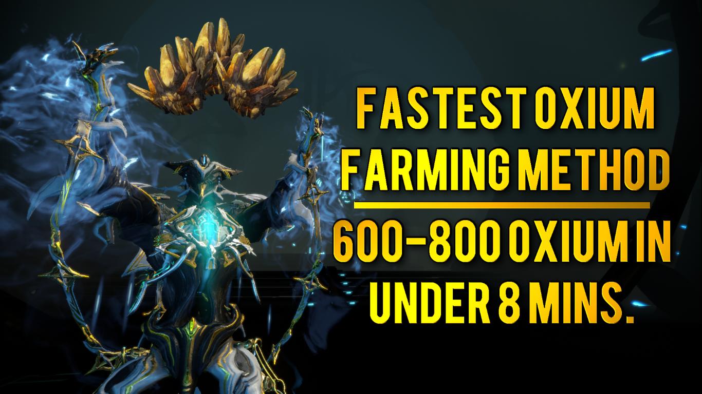 Warframe: Best Oxium Farm Right Now | 600-800 Oxium in Under