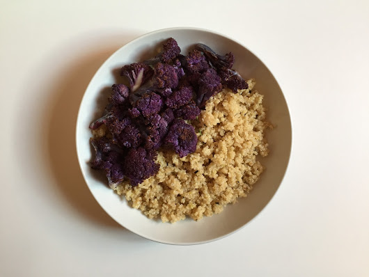 Bergamot Rosemary Quinoa with Roasted Purple Cauliflower // Quinoa al bergamotto e rosmarino con cavolfiore viola arrostito