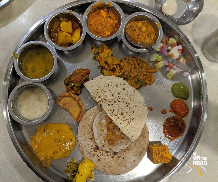Must have Thali at Bhoj Thali restaurant, Aurangabad, Maharashtra