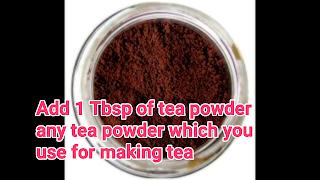 image of tea powder
