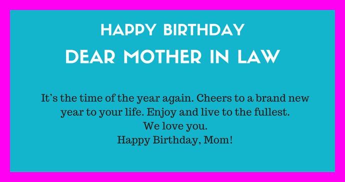 21 Happy Birthday Message for Mother in Law from Daughter Images – Birthday Greetings for a Mother