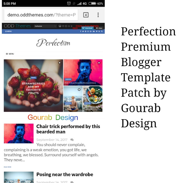 perfection blogger template