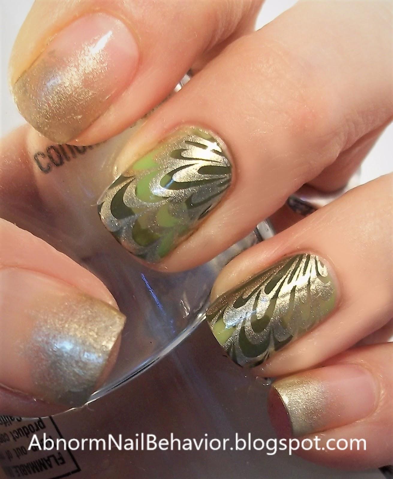 Abnorm Nail Behavior | Nail Art : St. Patrick\'s Day Marble