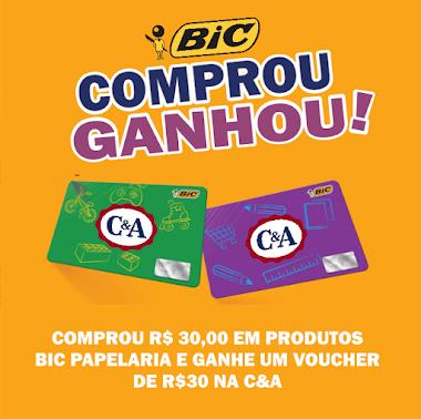 Promoção BIC - Comprou, Ganhou um Vale Presente da C&A