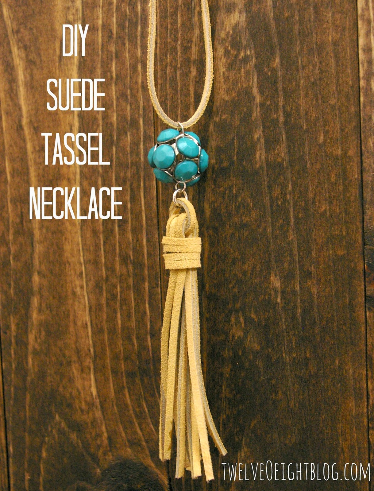 Diy Suede Tassel Necklace Twelveoeight