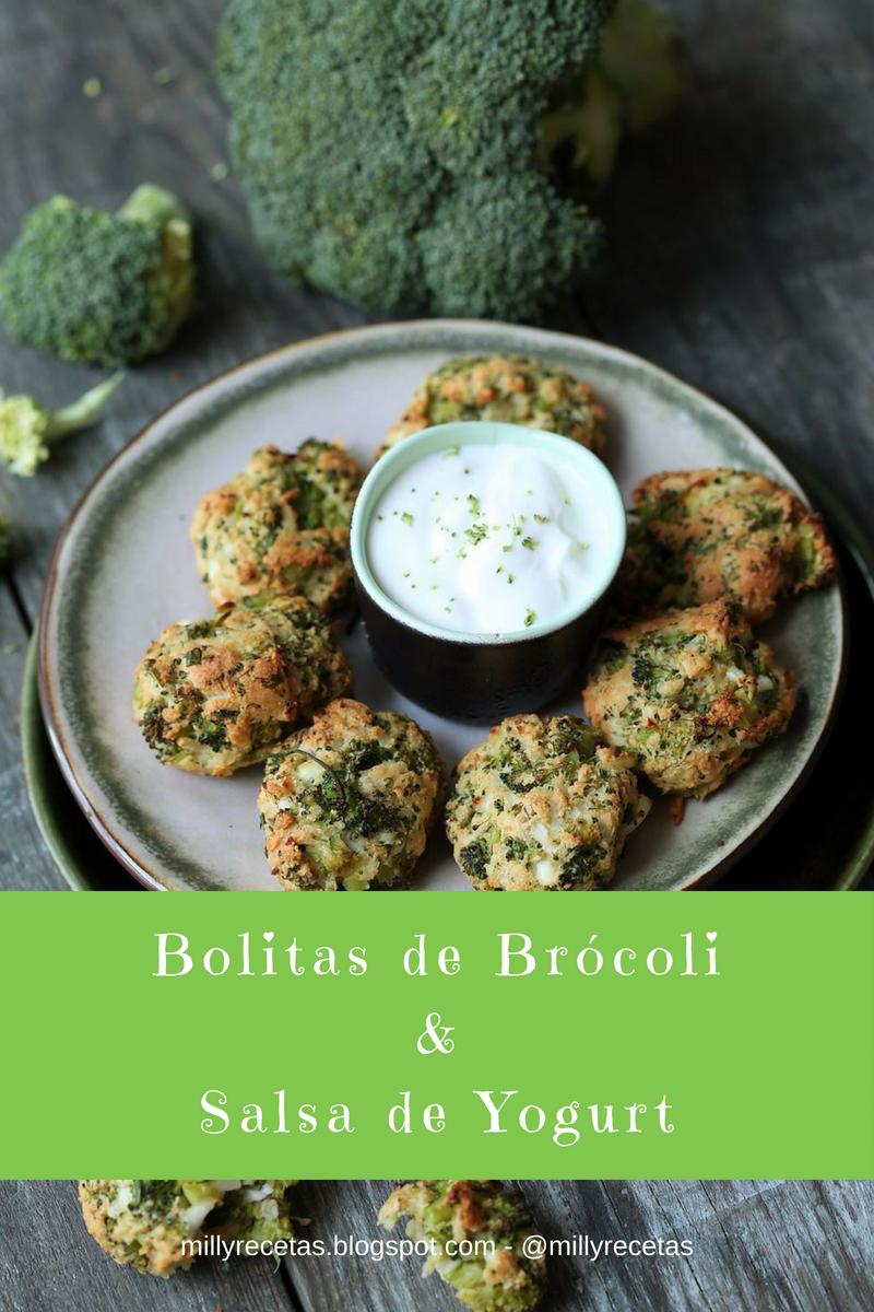 Bolitas de Brócoli con Salsa de Yogurt