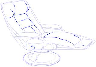 Langkah simpel menggambar Recliner (Sofa)