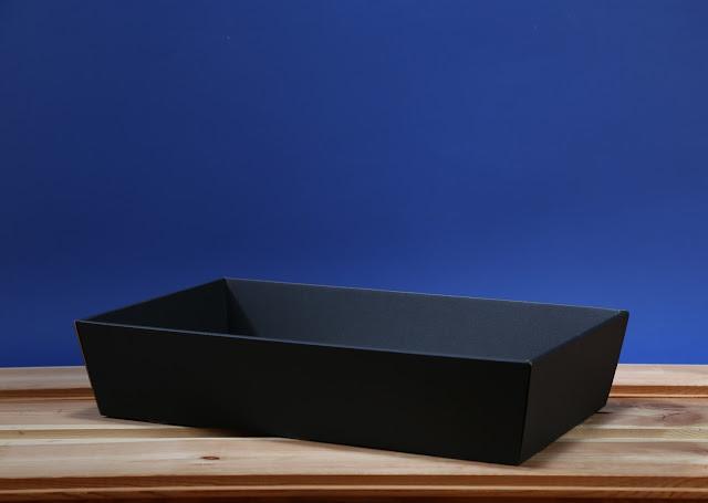 Kosz prezentowy prostokątny 25 x 46 czarny