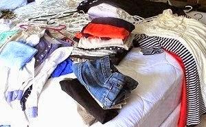 preparar roupas para o brechó online