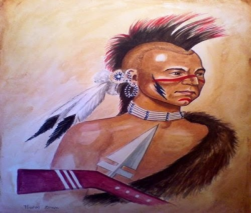 Painting FIW Wyandot, Huron Indians picture 1