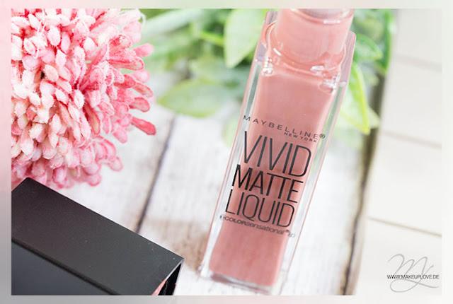 Maybelline Vivid Matte Liquid Review Swatch Tragebilder