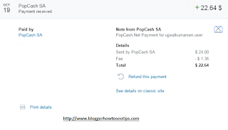 Popcash Payment proof 2015