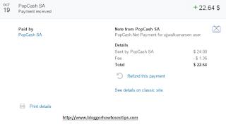 Popcash Payment proof 2015