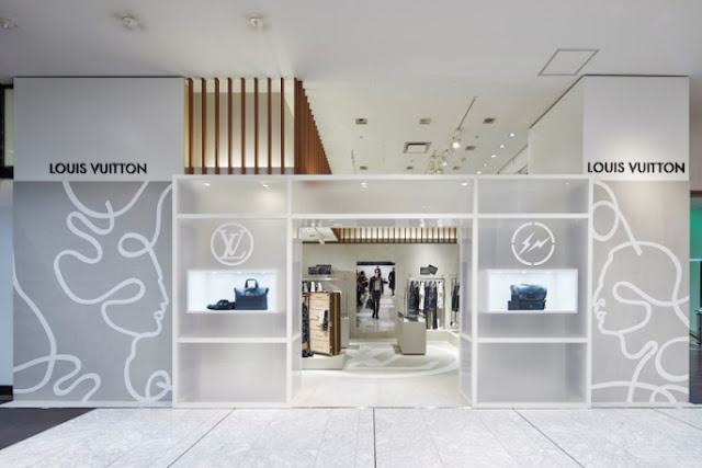 Green Pear Diaries, interiorismo, pop up store, pop up shop, tienda efímera, Louis Vuitton, Tokio