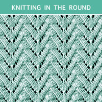 Eyelet Lace 77 -Knitting in the round
